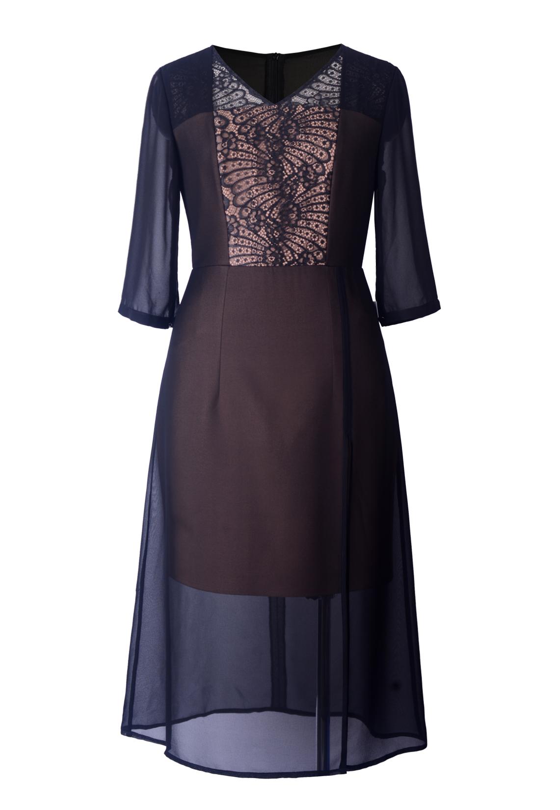 Đầm xòe pha ren