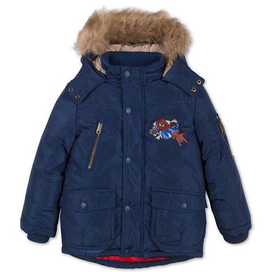 Áo khoác lót lông dày ấm, chất kaki nên bé thoải mái cử động, chơi đùa