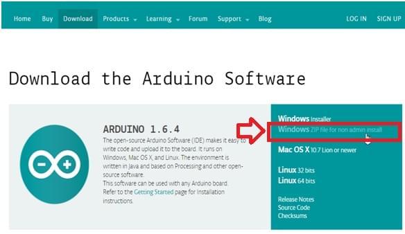 cài đặt chương trình arduno IDE