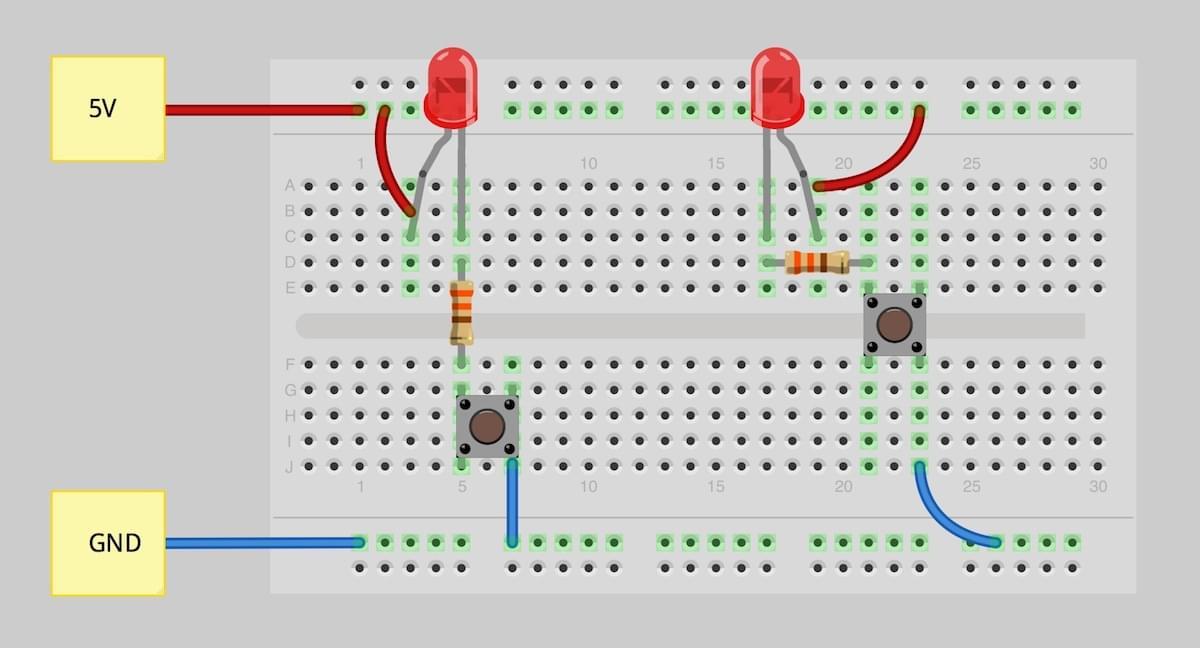 breadboard thực hành cùng arduino
