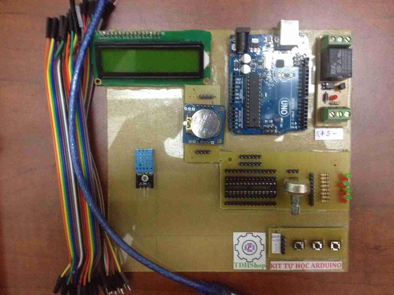 Bộ Tự Học Arduino Đo Nhiệt Độ, Độ Ẩm Bằng DHT11