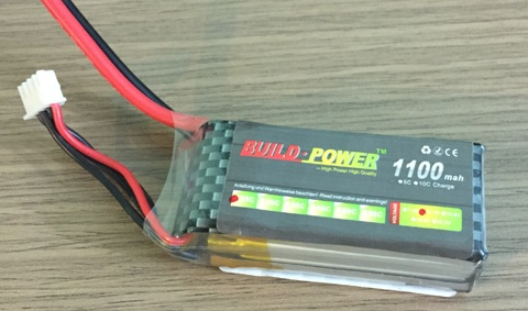Pin Lipo 1100 mAh 25C 3S