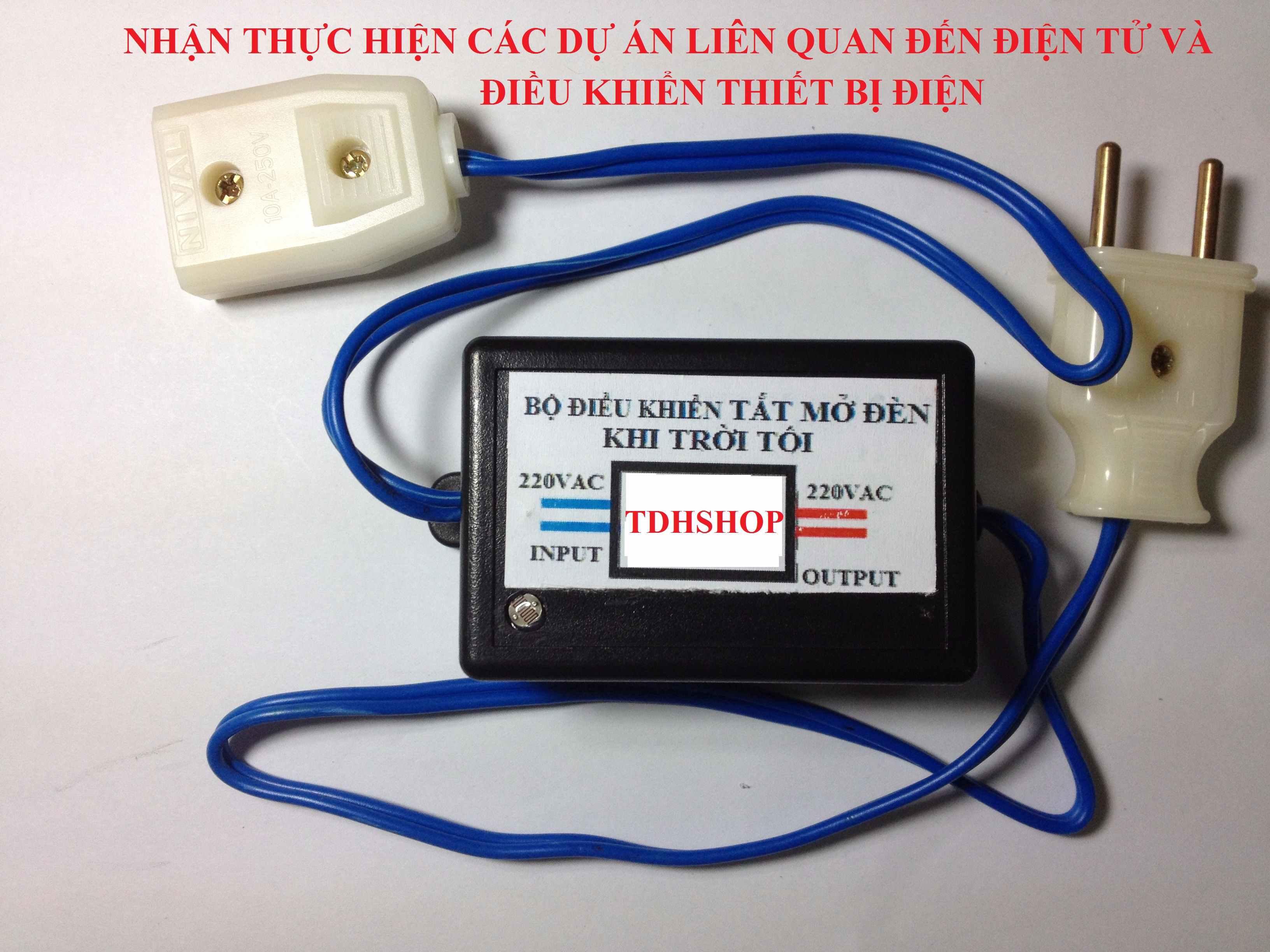 Bộ điều khiển tắt mở thiết bị điện khi trời sáng tối