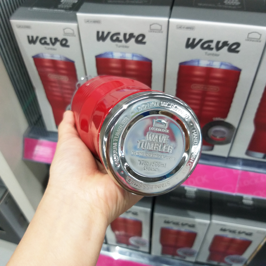 Ly Giữ Nhiệt Lock&Lock Wave Tumbler LHC4147 RED 500ml