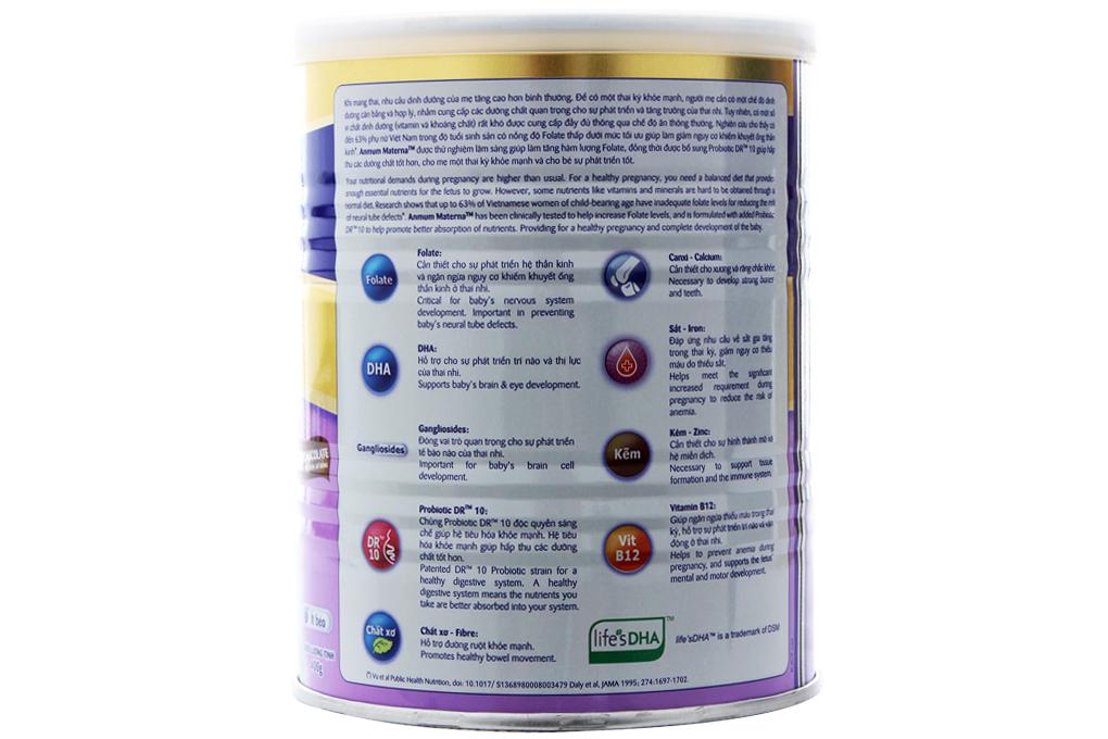 Sữa bột Anmum Materna hương chocolate lon 400g