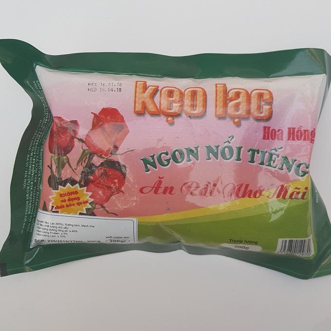 Kẹo lạc Hoa Hồng túi 200g