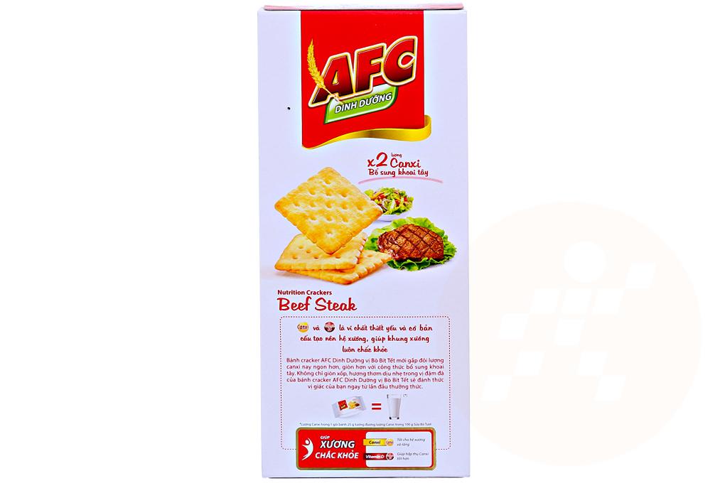 Bánh quy AFC vị Bò bít tết hộp 200g