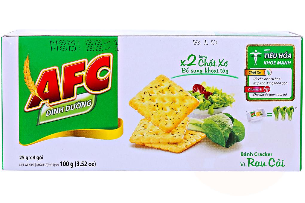 Bánh quy AFC vị rau cải hộp 100g