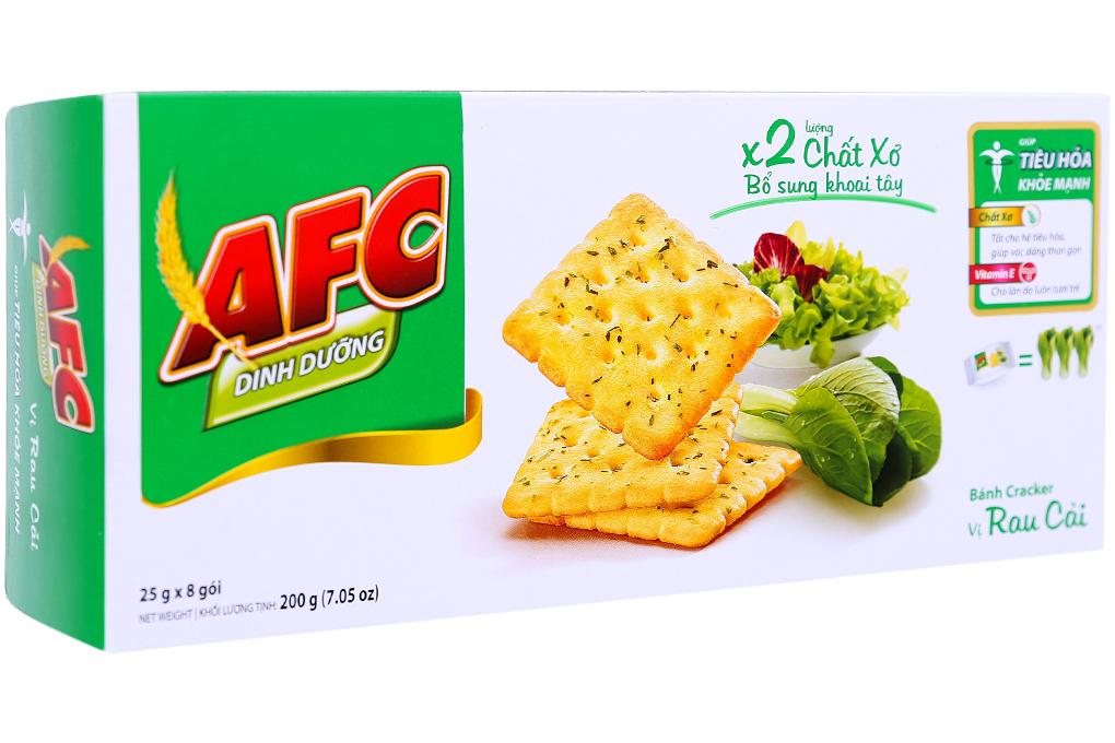 Bánh quy AFC vị rau cải hộp 200g