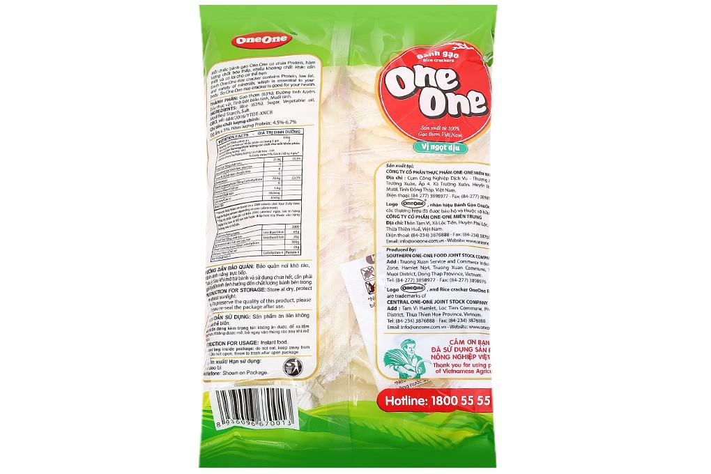 Bánh gạo One One vị ngọt dịu gói 150g