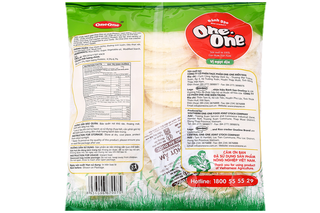 Bánh gạo One One vị ngọt dịu gói 230g