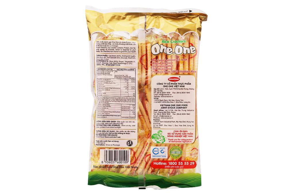 Bánh gạo One One vị Bò nướng 150g