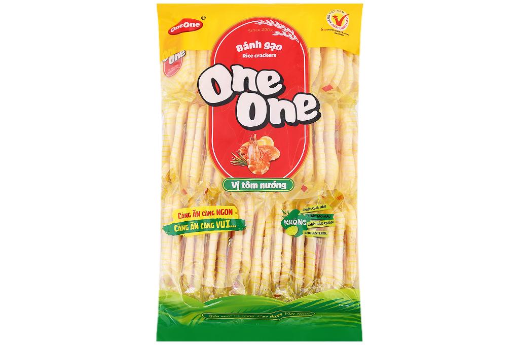 Bánh gạo One One vị tôm nướng gói 150g