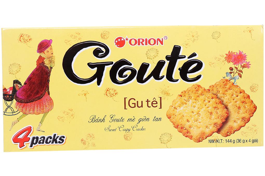 Bánh quy Gouté Mè giòn tan hộp 144g