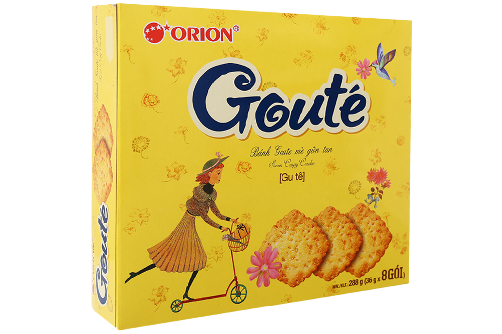Bánh Goute mè giòn tan hộp 288g