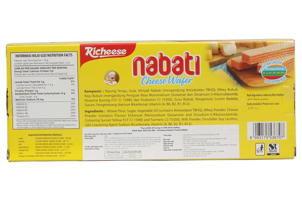 Bánh Nabati kem xốp phô mai hộp 150g