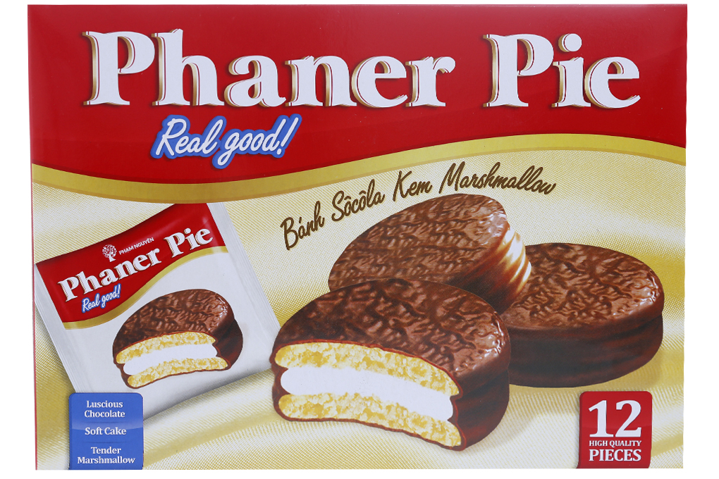 Bánh Socola Kem Marshmallow Phaner Pie hộp 336g