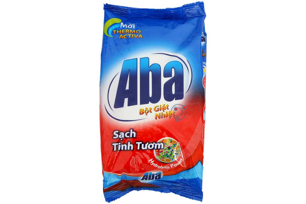Bột giặt nhiệt Aba sạch tinh tươm gói 400g