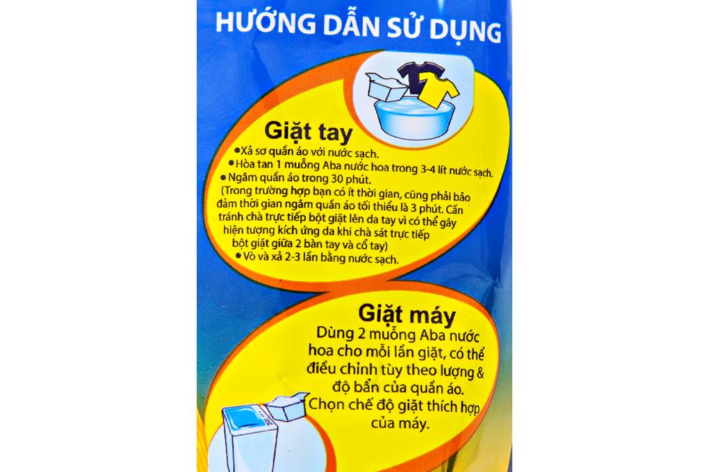 Bột giặt nhiệt Aba nước hoa gói 360g
