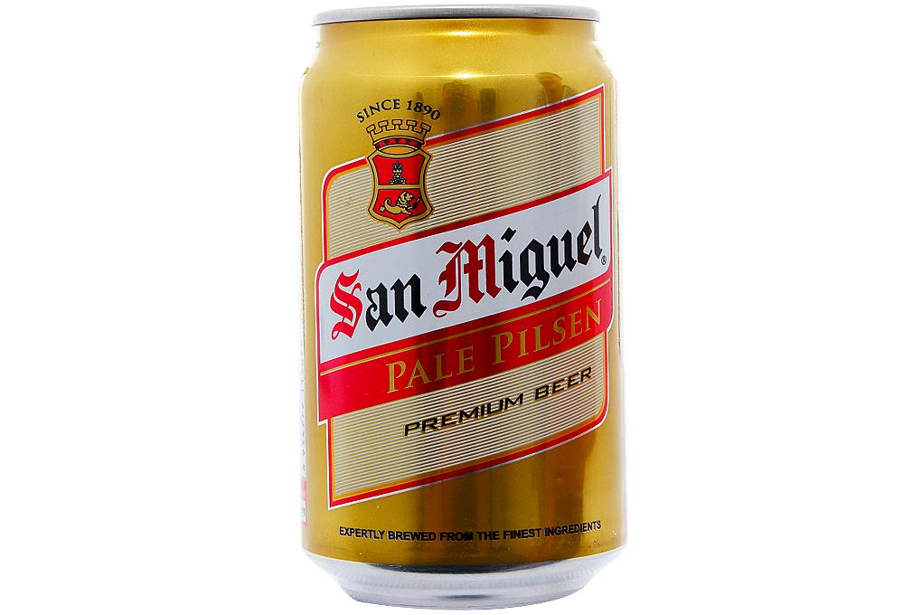 Bia San Miguel vàng nhạt lon 330ml