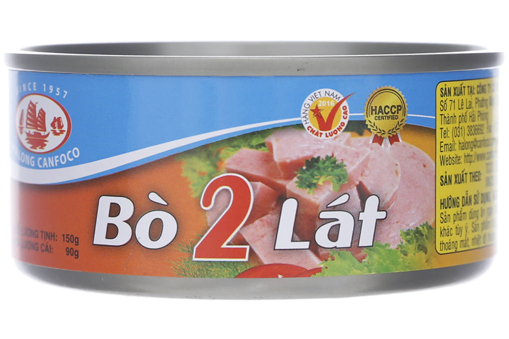 Bò 2 lát Hạ Long lon 150g