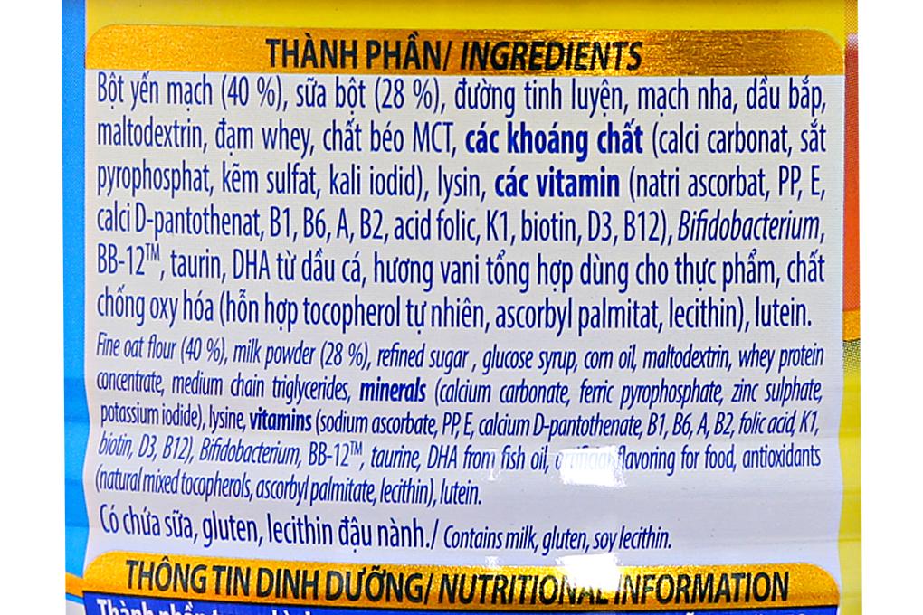 Bột ăn dặm Ridielac Yến mạch sữa cho trẻ 6-24 tháng lon 350g
