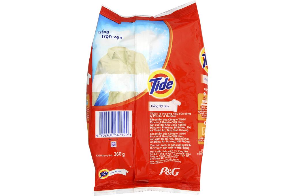 Bột giặt Tide trắng đột phá túi 360g