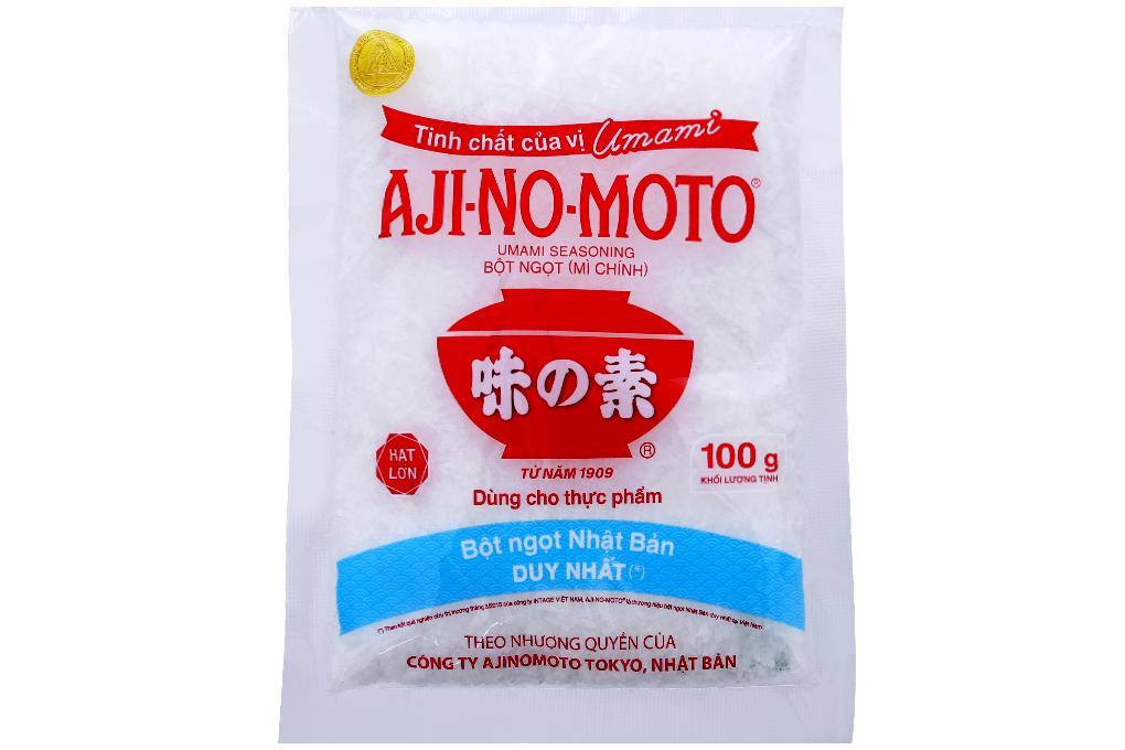 Bột ngọt Aji-no-moto hạt lớn gói 100g