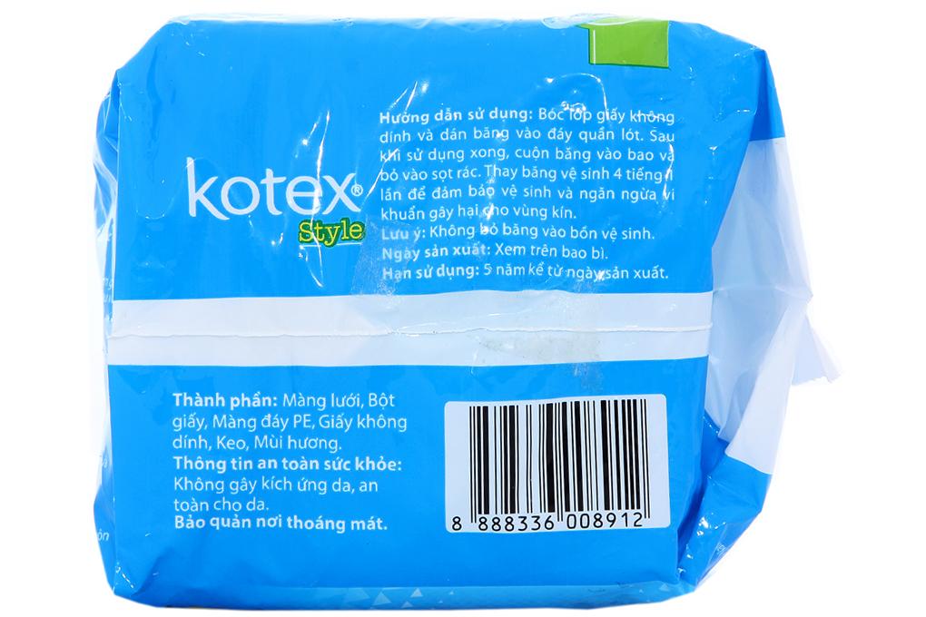Băng vệ sinh Kotex Style Maxi không cánh 8 miếng
