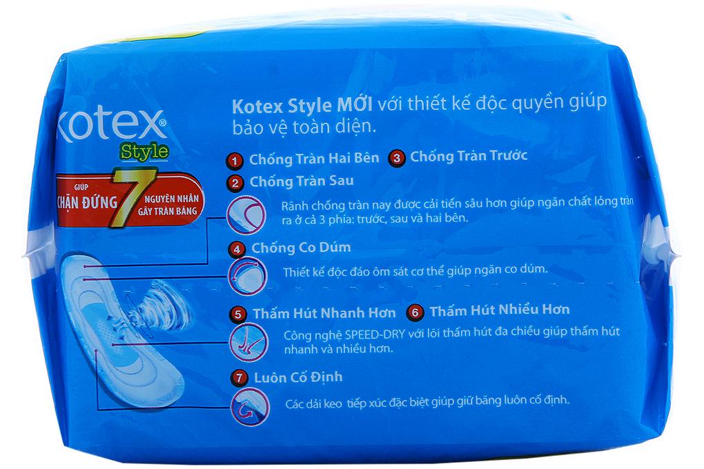 Kotex Style siêu mỏng không cánh 8 miếng
