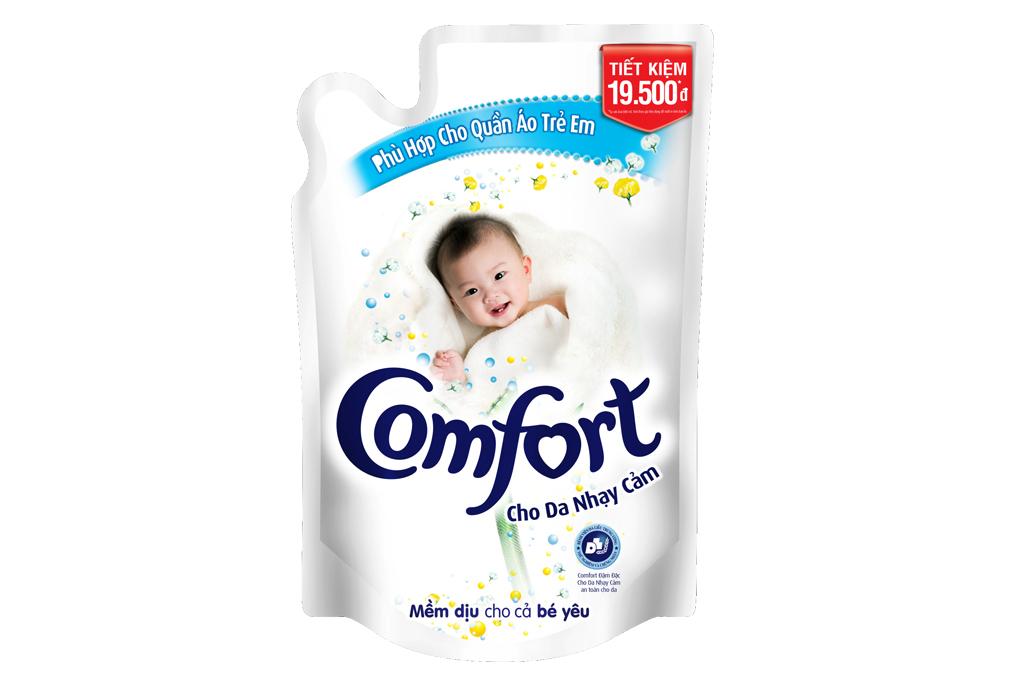 Nước xả Comfort đậm đặc cho Da nhạy cảm túi 1.6 lít