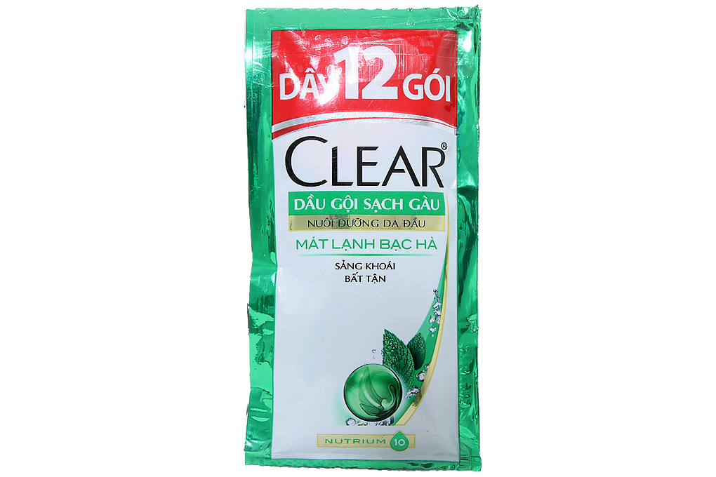 Dầu gội sạch gàu Clear mát lạnh bạc hà gói 6g