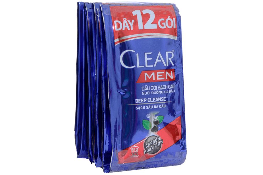 Dầu gội sạch gàu Clear Men sạch sâu da đầu gói 5g