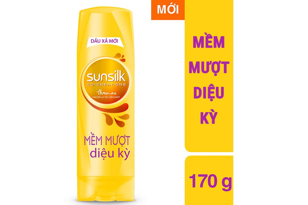 Dầu xả Sunsilk mềm mượt diệu kỳ chai 170g