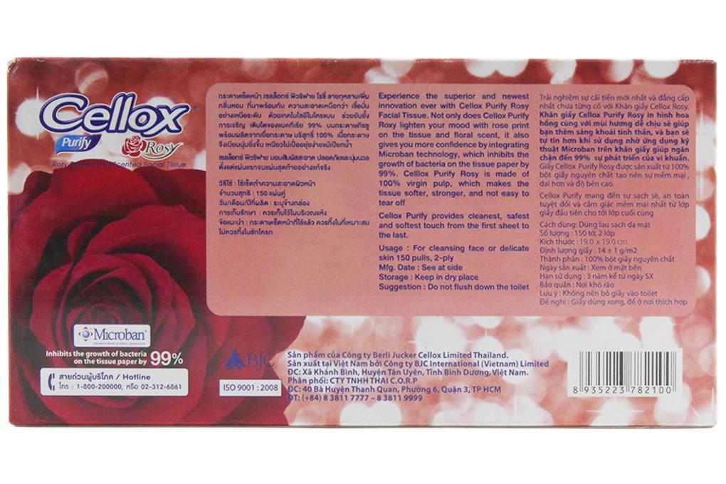 Khăn giấy Cellox Rosy hộp 150 tờ 2 lớp