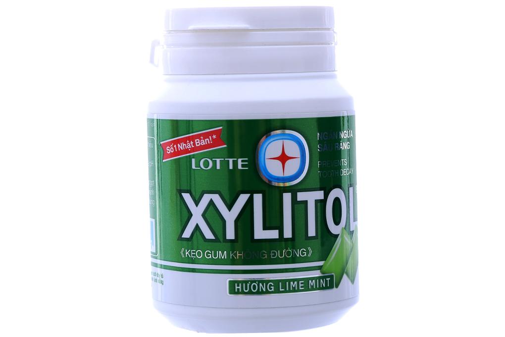 Singum Xylitol không đường hương Chanh lọ 58g