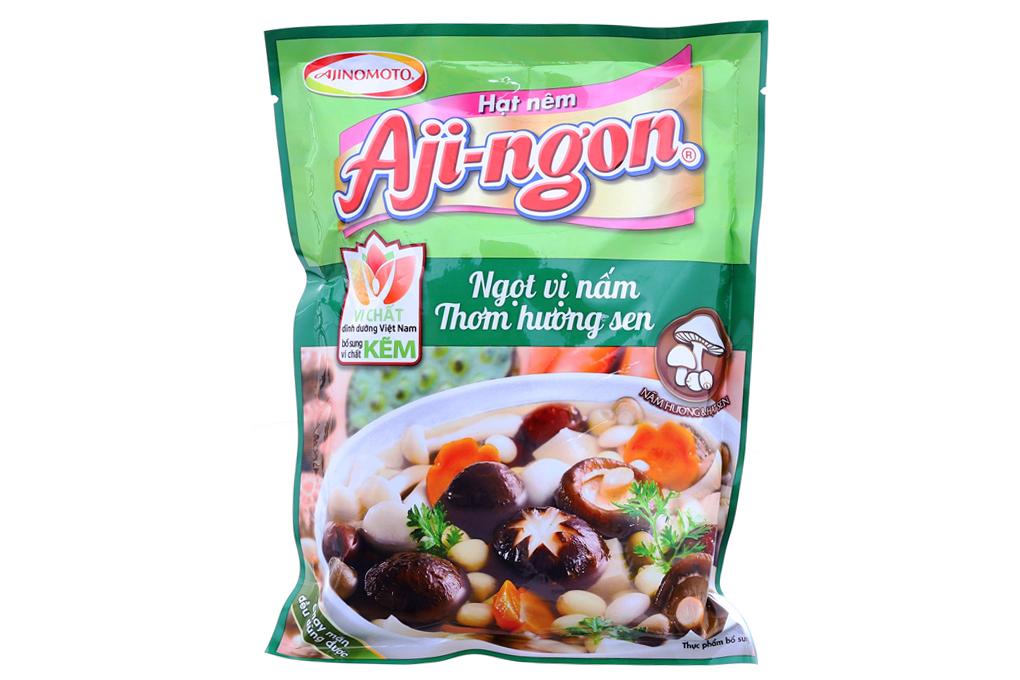 Hạt nêm Aji-ngon nấm hương, hạt sen gói 200g