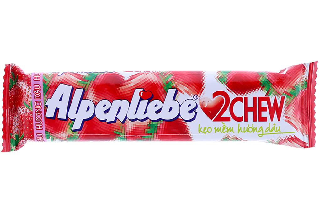 Kẹo mềm hương dâu Alpenliebe 2Chew thanh 24.5g