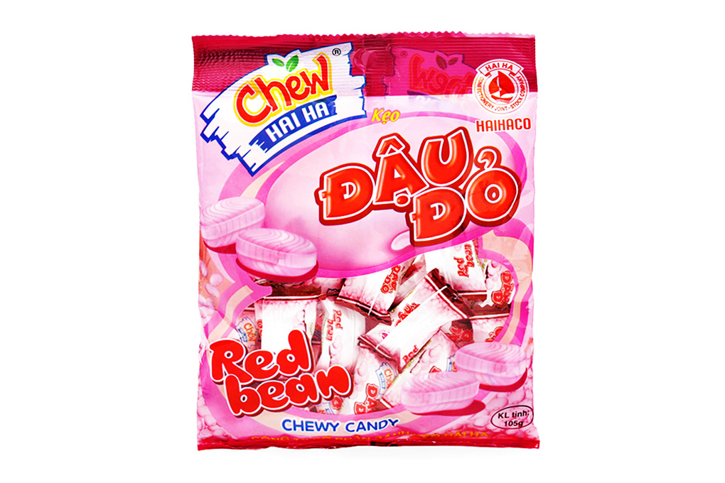 Kẹo Chew đậu đỏ Hải Hà gói 105g