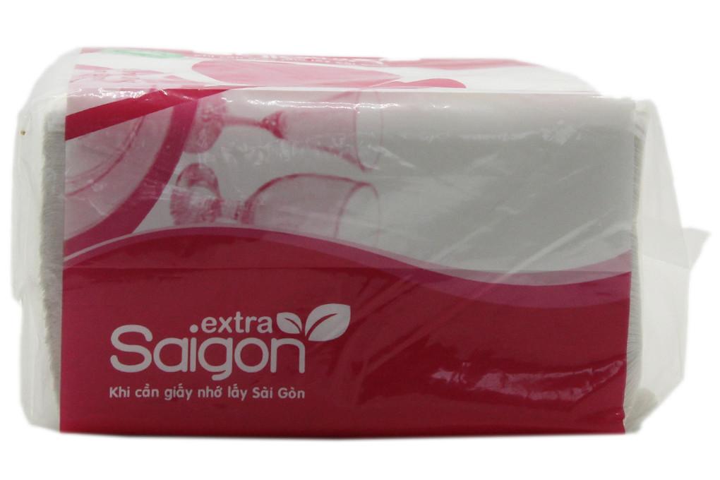 Khăn ăn Saigon Extra vuông 1 lớp gói 100 tờ