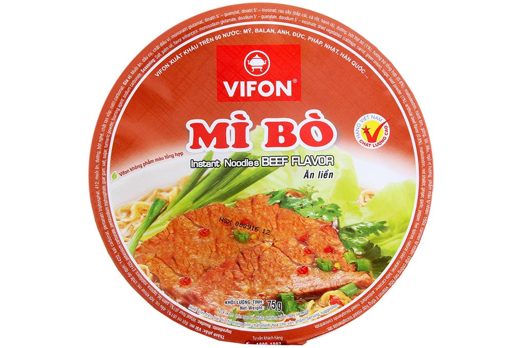Mì Bò ăn liền Vifon bát 75g