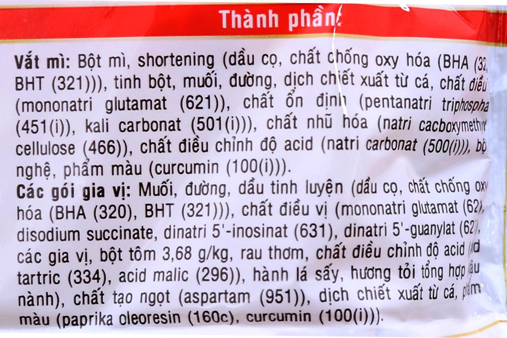 Mì Hảo 100 hương vị Tôm chua cay gói 65g