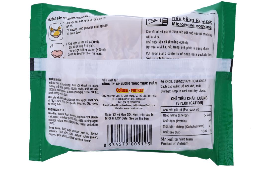 Mì Miliket hương vị Gà cao cấp gói 80g
