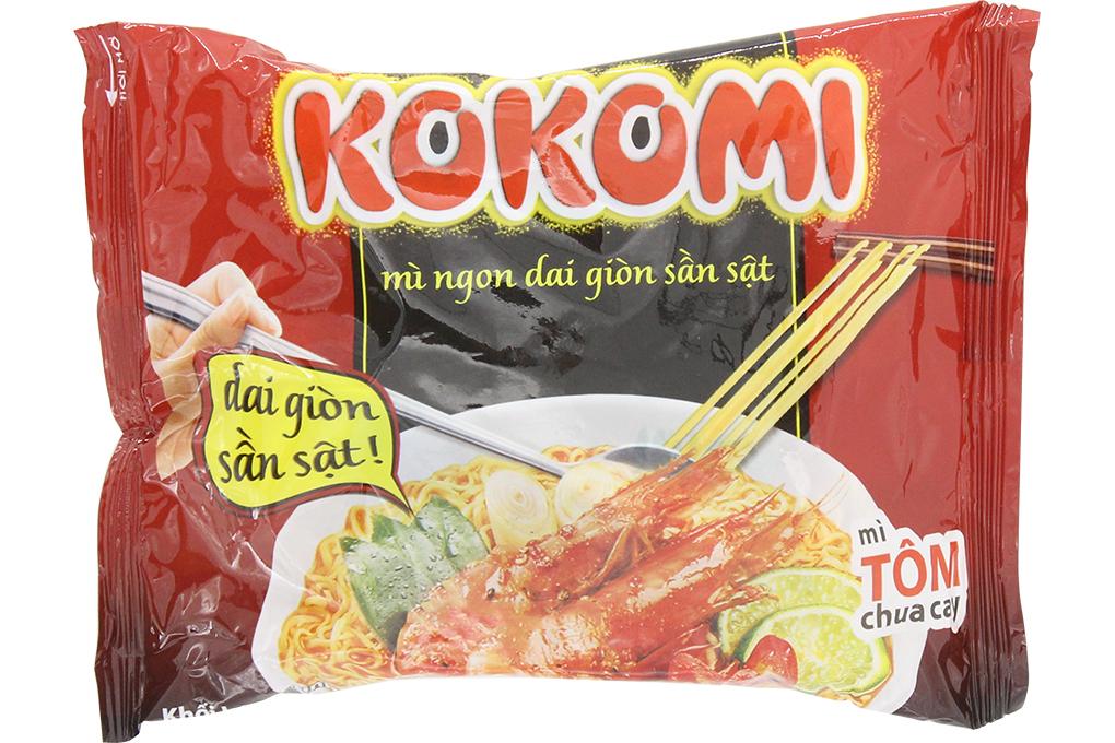 Mì Kokomi tôm chua cay gói 65g