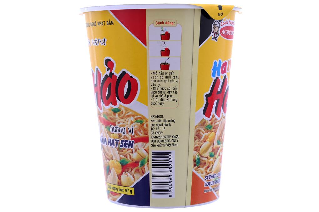 Mì ly Hảo Hảo gà hầm hạt sen 67g