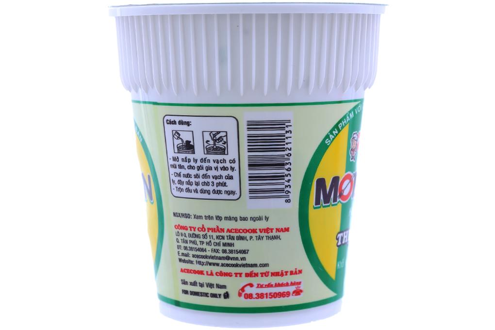 Mì ly Modern hương vị Thịt xào gói 65g