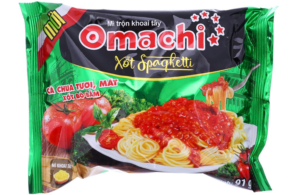 Mì Omachi hương vị xốt Spaghetti mới gói 91g