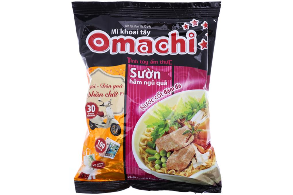 Mì Omachi sườn hầm ngũ quả gói 80g