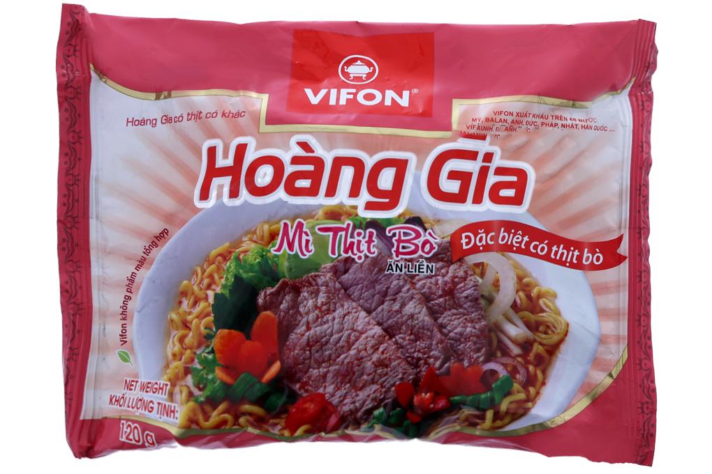 Mì Hoàng Gia hương vị thịt bò gói 120g