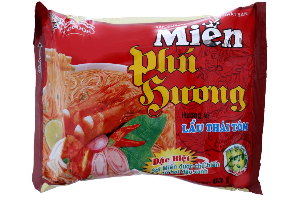 Miến đậu xanh Phú Hương hương vị Lẩu thái tôm gói 63g